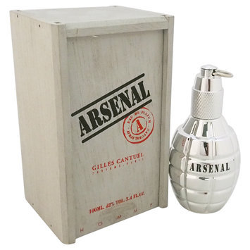 Arsenal Platinum by Gilles Cantuel for Men - 3.4 oz EDP Spray