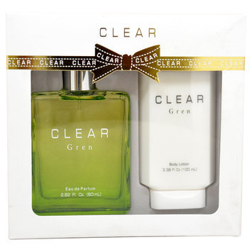Clear Gren by Intercity Beauty Company for Women - 2 Pc Gift Set 2.82oz EDP Spray, 3.38oz Body Lotion