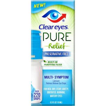 Clear Eyes Pure Multi-Symptom Reliever Eye Drops - 0.3 oz