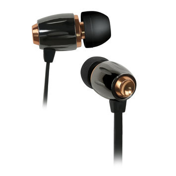 Bell'o International IN-EAR HEADPHONE 3.5mm W/ APPLEACCSREMOTE CONTROL BLK CHROME COPPER