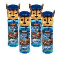 Paw Patrol 4 Piece Chase Bubble Heads with Wand