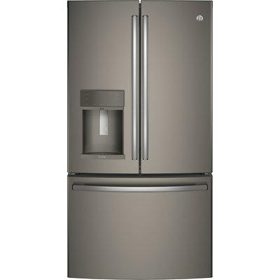 GE PYE22KMKES Profile 22.2 Cu. Ft. Slate Counter Depth French Door Refrigerator - Energy Star