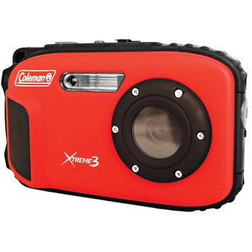 COLEMAN C9WP-R 20.0 Megapixel Xtreme3 HD/Video Waterproof Digital Camera (Red)