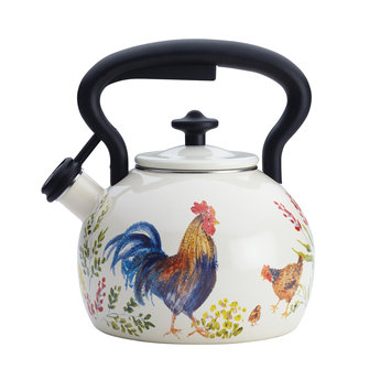 Meyer Corporation Us Paula Deen Signature Teakettles 2-Quart Enamel on Steel Teakettle, Garden Rooster