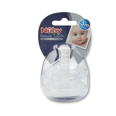 Nuby 2 Pack Natural Touch Replacement Nipple - Medium Flow