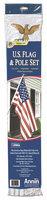 Annin & Company 011320R U.S. Flag Set - Polyester & Cotton - 3 x 5 feet