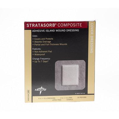 Medline Bandages and Dressings Stratasorb Composite Island Dressing