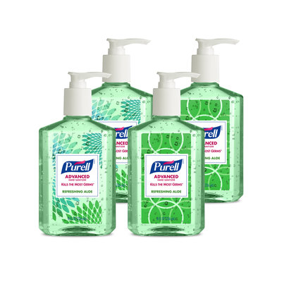 PURELL - Advanced Instant Hand Sanitizer with Aloe, 8 oz Bottle - 24/Carton