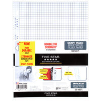 Mead Five Star Quad Ruled Reinforced Filler Paper 100-ct.