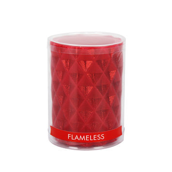 Anco Merchandise Co., Ltd. Essential Home Small Flameless Glittered Pillar Candle