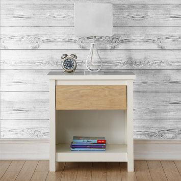 Dorel Asia Dorel Living Blaine Nightstand, White/Natural