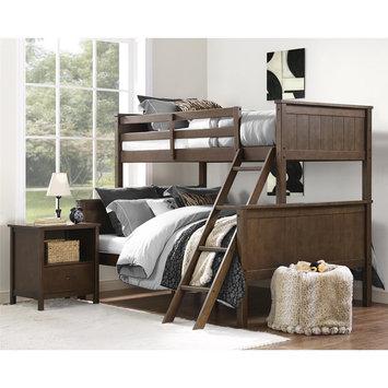 Dorel Asia Dorel Living Maxton Mocha Twin over Full Bunk Bed