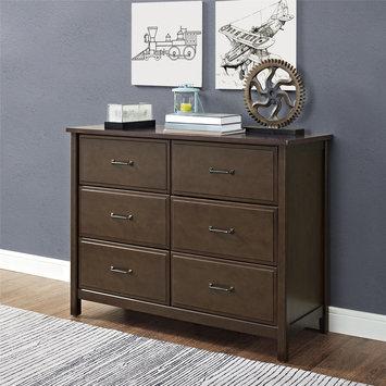Dorel Asia Dorel Living Maxton Mocha 6-Drawer Dresser