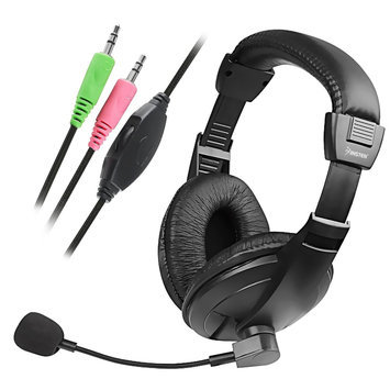 Insten VOIP/SKYPE Handsfree Stereo Headset With Microphone, Black