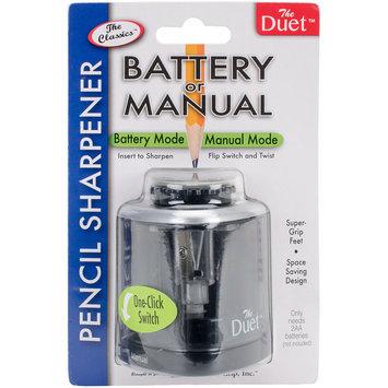 Duet Battery-Operated/Manual Pencil Sharpener