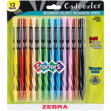 Zebra Pen Corporation Zebra Pen 52812 Cadoozles Starter Mechanical Pencil, 2.0mm, Assorted Barrels