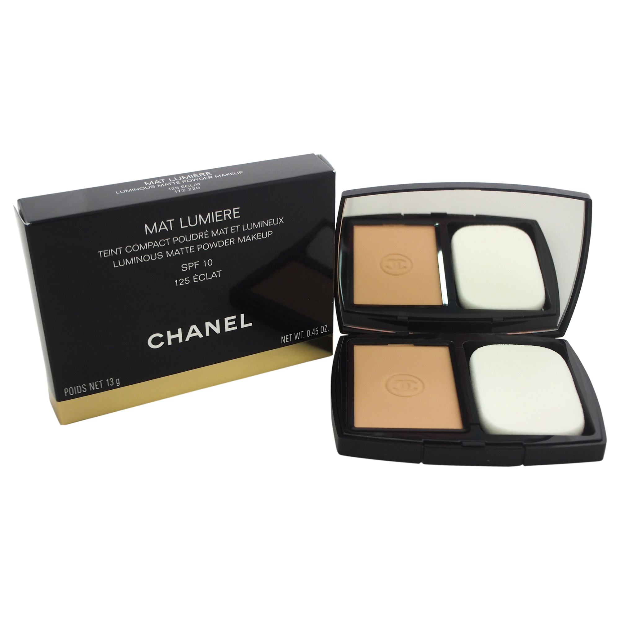 Chanel Mat Lumiere Luminous Matte Powder Makeup SPF 10