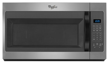 Whirlpool WMH31017FD 1.7 Cu. Ft. Silver Over-the-Range Microwave