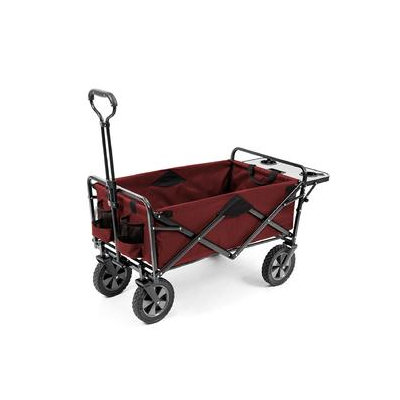 MAC Sports Folding Wagon with Folding Table, Red