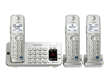 Panasonic KX-TGE273S Link2Cell Bluetooth Phone with 3 Handsets (Silver)