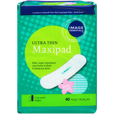 Image Essentials Ultra Thin Long Super Fresh Scent Maxipad 40 CT PACK - mygofer