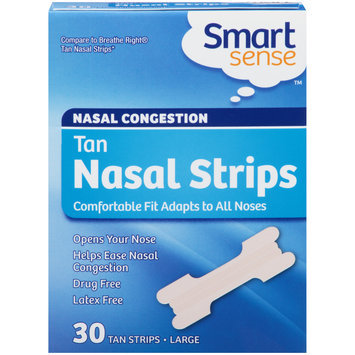 Smart Sense Nasal Congestion Large Tan Nasal Strips 30