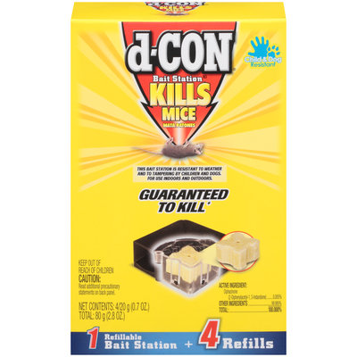 D Con D-Con Mice Bait Station With 4 Refills
