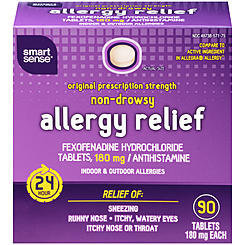 Smart Sense Non Drowsy Allergy Relief Tablets