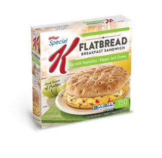 Kellogg's Special K® Flatbread Breakfast Sandwich Egg with Vegetables & Pepper Jack Cheese