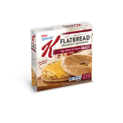 Special K® Kellogg's Flatbread Egg Bacon & Cheese Sandwiches
