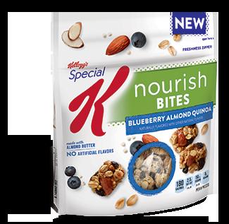 Special K® Kellogg's Blueberry Almond Quinoa Nourish® Bites