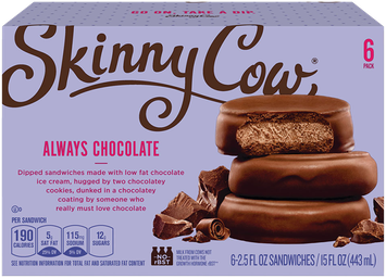 Skinny Cow Fully Dipped Sandwiches Ultimate Chocolate