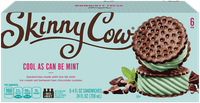 Skinny Cow Mint Ice Cream Sandwich