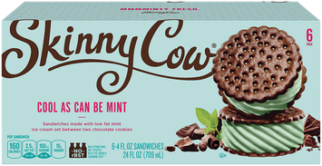 Skinny Cow Mint Ice Cream Sandwich
