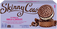 Skinny Cow Vanilla & Chocolate Ice Cream Sandwich