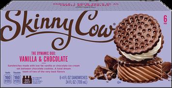 Skinny Cow Vanilla & Chocolate Ice Cream Sandwich