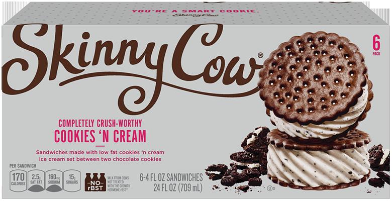 Skinny Cow Cookies 'n Cream Ice Cream Sandwiches
