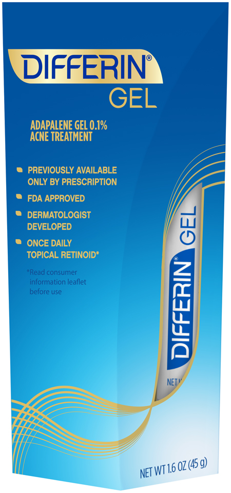 Differin® Gel Acne Treatment 1.6 oz. Box