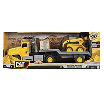 Nikko Caterpillar Massive Machines Crane Truck with Skid Steer - Lights and Sounds