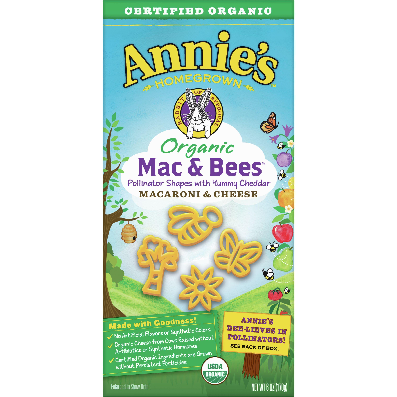 Annie's Organic Mac and Bees Macaroni and Cheese, 6 oz