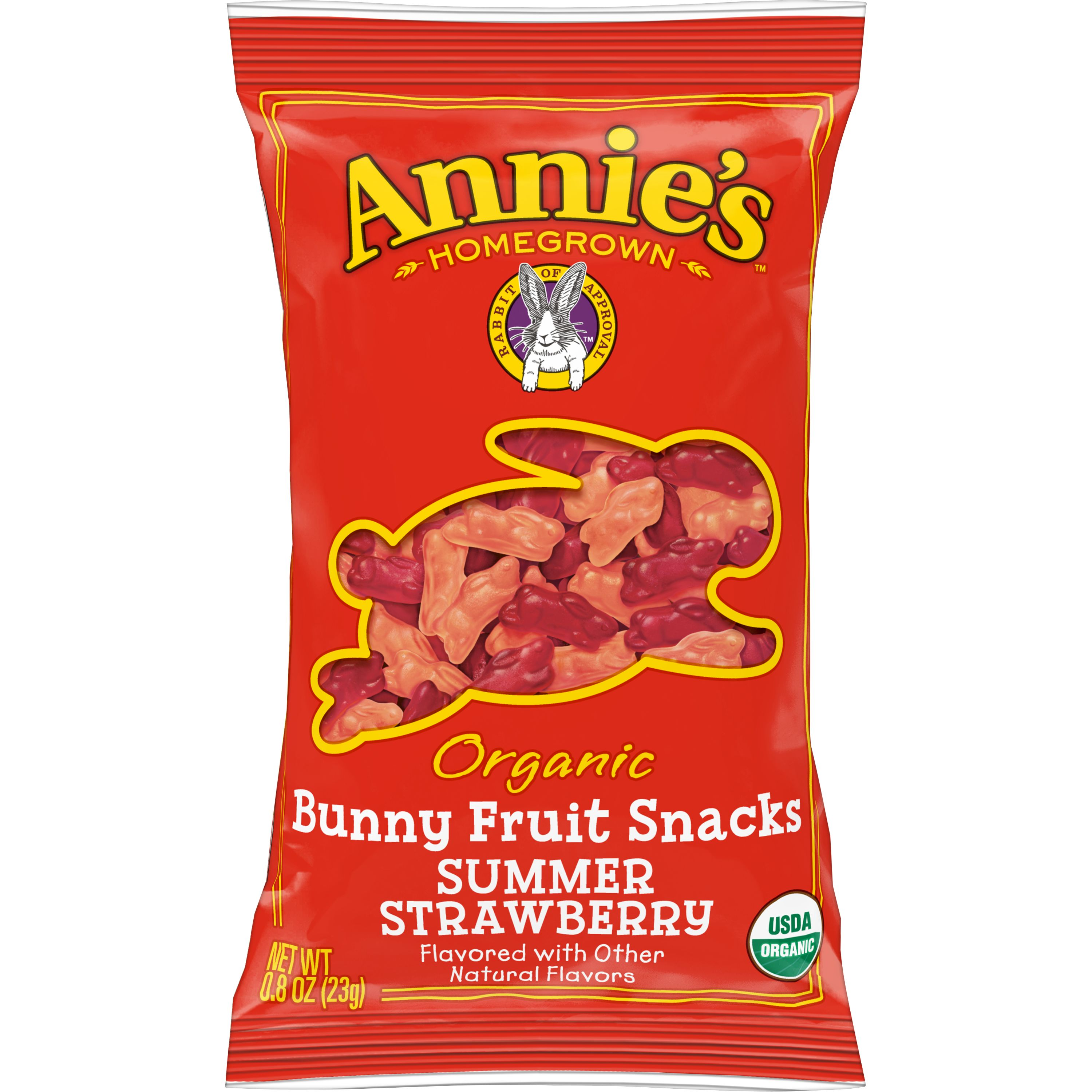 Annie's(r) Homegrown Organic Summer Strawberry Bunny Fruit Snacks