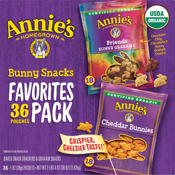 Annie's Favorite Bunny Snacks 36 Count