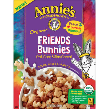 Annie's Organic Friends Bunnies Breakfast Cereal, 10 oz