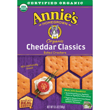 Annie's Organic Cheddar Classic Baked Crackers, 6.75 oz