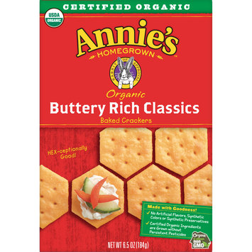 Annie's Organic Buttery Rich Classic, Baked Snack Crackers, 6.5 oz