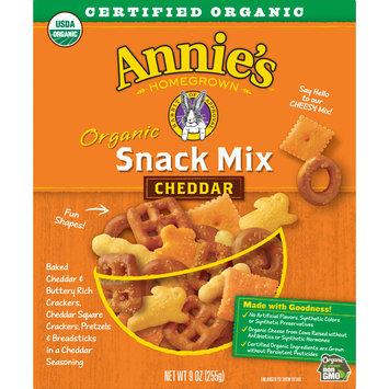 Annie's Organic Cheddar Snack Mix, Assorted Crackers and Pretzels, 9oz Box