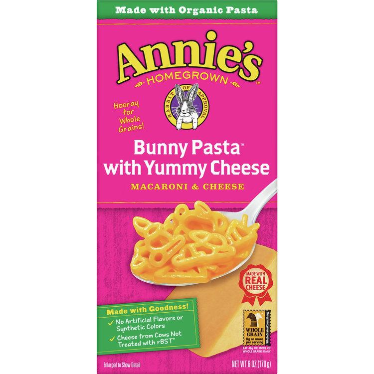 Annie's Bunny Shape Pasta & Yummy Cheese Macaroni & Cheese, 6oz Box