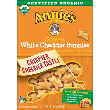 Annie's Homegrown White Cheddar Bunnies baked Snack Crackers, 7.5 oz