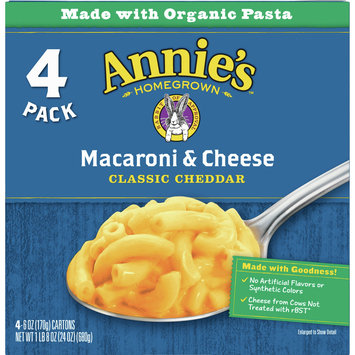 Annie's Classic Mild Cheddar Macaroni and Cheese, 4 Ct, 24 oz