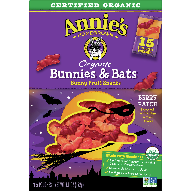 Annie's Organic, Gluten Free, Bunnies & Bats Bunny Fruit Snacks, 6 oz